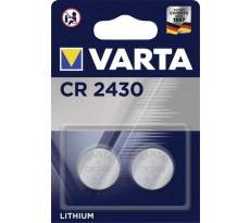 Pile lithium 3v 290mAh CR2430 VARTA - blister de 2 - 6430101402