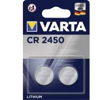 Pile lithium 3v 570mAh CR2450 VARTA - blister de 2 - 6450101402