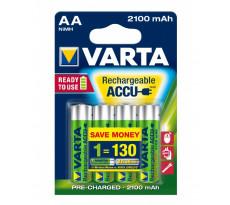 Pile rechargeable AA 1.2v 2100 mAh Nimh VARTA - préchargées - pack de 4 - 56706101404