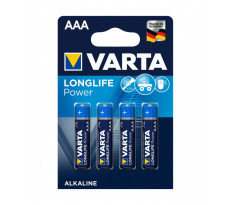 Pile alcaline 1.5V AAA Longlife VARTA - Blister de 4 - 4 903 110 414
