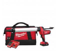 Pistolet à colle MILWAUKEE PCG600T-201B - Tube 600ml - 1 batteries, chargeur, sac de transport - 4933441808