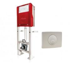 Support et plaque NICOLL pour WC auto-portant - Polymère et acier Happy support - WBS2PAP