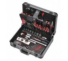 """Coffret de 116 outils mécanicien en alu 1/4"""" + 1/2"""" PROMAC - Y-116B"""