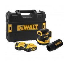 Ponceuse excentrique XR 18V 125 mm Brushless DEWALT - 2 batteries 5.0Ah + coffret TSTAK - sans chargeur - DCW210P2-QW