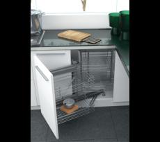 Mécanisme d'angle caisson cuisine 4 paniers SIGE - gauche ou droite - SIG6562