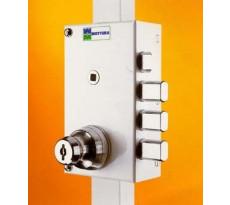 Serrure de sûreté 3 points MOTTURA pour porte d'entrée - Cylindre rond 50 mm - A2P448