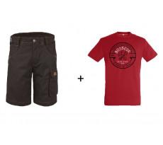 Lot BOSSEUR Bermuda ébène + 1 Tee-shirt Rouge - 10828-00