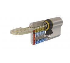 Cylindre de sûreté TESA T60 débrayable - Nickelé - Varié - 5 clés - T65