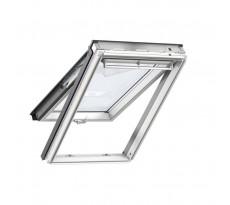 Fenêtre de toit à projection VELUX 134x140 cm - Tout confort Whitefinish Bois - GPL 2057