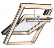 Fenêtre de toit électrique VELUX avec motorisation Integra - Tout confort Finition bois - GGL 305721