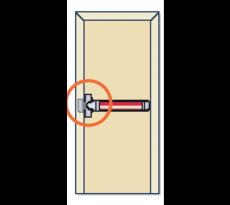 Fermeture anti-panique 1 point Panama Push FAPIM - barre 935 mm - FAP0001