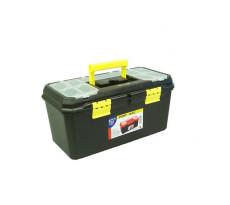 Boite à outils + organizer noir/jaune VISO