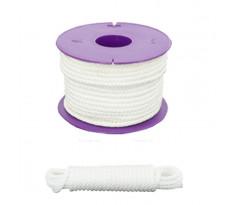 Drisse en polypropylène VISO - blanc - vendu au mètre linéaire - DRA