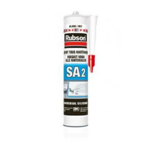 Mastic Silicone acétique 2 Sanitaire RUBSON - 280ml