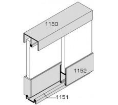 Ensemble VACHETTE pour vitrine coulissante - rail de 5m - 1263