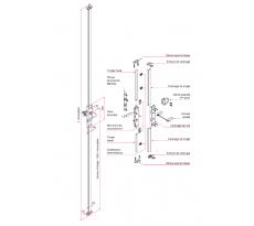 Serrure 3 points Multireverso 2500 mm TIRARD pour porte garage ou volet battant - Profil EU - WG59