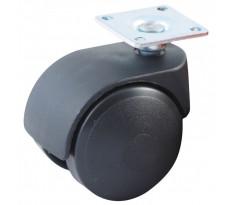 Roulette pivotante à platine rectangulaire AVL - doubles roues nylon - 5950