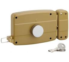 Serrure garage horizontale à cylindre et bouton de tirage 140x90 THIRARD 32 mm - 3 clés