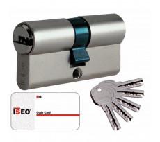 Cylindre city ISEO ISR6 - bouton ou double entrée - avec clés et carte de propriété - 8809