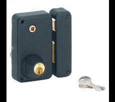 Serrure en applique THIRARD verticale cylindre rond - QPE06455