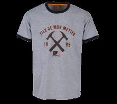 T-shirt Métier BOSSEUR - Gris Chiné - 11268