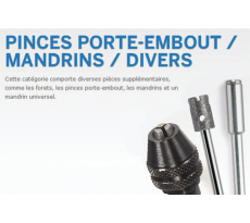 Lot d'adaptateur DREMEL Pinces, porte-embout, mandrins