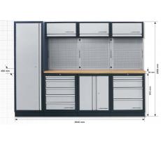 Système de rangement modulaire KRAFTWERK Mobilio - 4 éléments - Plan de travail au choix - 3964