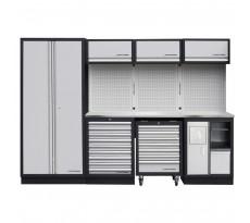 Système de rangement modulaire KRAFTWERK Mobilio - 4 éléments - Plan de travail au choix - 3964D