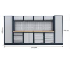 Système de rangement modulaire KRAFTWERK Mobilio - 6 éléments - Plan de travail au choix - 3964F