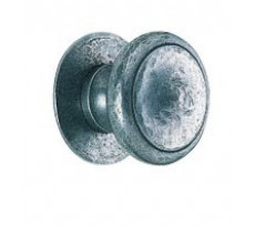 Boutons 47 BOUVET - Ø75 mm - Fixes sur rosace pleine / ajourée - Laiton / Fer