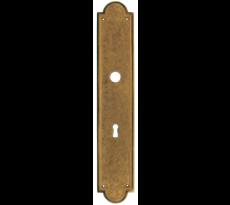 Ensemble de porte DUBOIS - Ligne LOUIS XVI - Avec ou sans perle - Laiton patiné - QPE08075