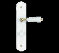 Ensemble de porte rustique en porcelaine MERIGOUS - Blanc - QPE08078