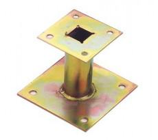 Support poteau Petit ou Grand modèle TORBEL - Zingué - Épaisseur 4 mm - QPE08132
