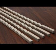 Jeu de 4 crémaillères bois ROUX - Pas de 35 mm - C1414