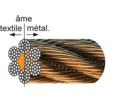 Bobine 100 m Câble galvanisé âme métallique LEVAC - 7x19 fils -
