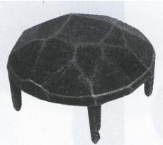 Cache-vis et clou décoratif fer forgé HSI tête diamant forme ronde - 179