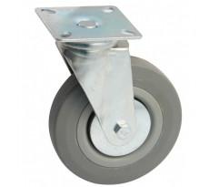 Roulettes pivotantes à platine rectangulaire AVL - Roue caoutchouc - 508-557