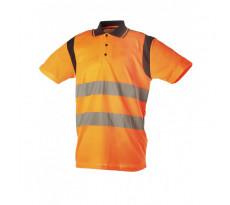 Polo Haute Visibilité SINGER - Manches courtes - Orange - PAULO