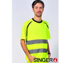 Tee-shirt Haute Visibilité SINGER - Jaune - SUZE