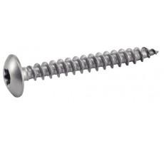 Vis à bois tête cylindrique 6 lobes ACTON inox A2 - 62310