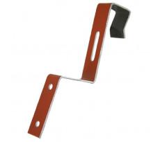 Clip de faîtage Aluminium rouge brique pour tuile romane 470/113