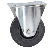 Roulettes fixes à platine rectangulaire AVL - Roue caoutchouc - 5088