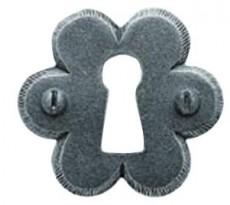 Rosaces entrée 1302 BOUVET - Fer noir ou patiné - QPE08059