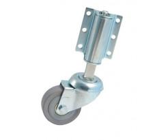 """Roulette pivotante """"échelle"""" à platine AVL - Roues caoutchouc Ø 50 - Charge 40 kg - 718531A"""