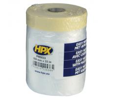 Ruban de masquage avec lisière papier transparent 550mm x 33m HPX - PM5533