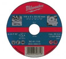 Lot de 25 disques à tronçonner MILWAUKEE Découpage acier - Ø115 mm - 4932490063