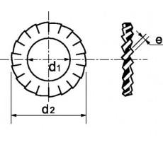Rondelle à denture extérieure MAURIN - chevauchante AZ - acier ressort - 72031