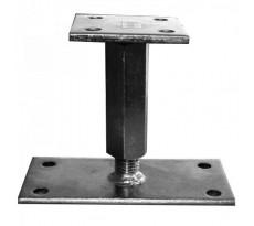 Support de poteau réglable 110 à 180 mm WAELBERS - H.160x90 - B.90x90 ép.6mm - 426501.99