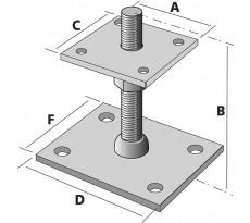 Pied de poteau réglable SIMPSON - 40 à 100mm - PB40605