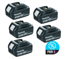 Lot de 5 batteries MAKITA BL1830 - 18V 3.0 Ah